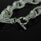 Rope Style 925 Silver Chain Bracelet - Silver