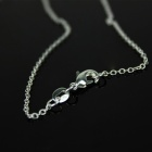 Stylish 925 Silver Crossover Net Women's Necklace - Silver