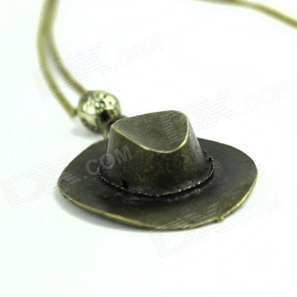 Walking Dead Rick Grimes Fashionable Cowboy Hat Style Necklace - Bronze