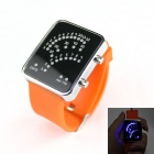 Fashionable LED Light Racing Speedometer Watch - Orange + Black (1 x CR2016)