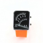 fasjonable LED lys racing speedometer watch - orange + svart (2 x CR2016)
