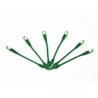 Creative Silicone Buckle Shoelace Set - Dark Green (6 PCS)