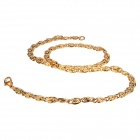 eQute Stainless Steel Men's Chain Necklace - Golden