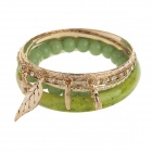Fashion Women's 6-in-1 Bracelets Set - Green + Gold