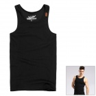 TS90 Stylish Men's Slim Vest  - Black (Size L)
