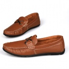 PU Casual Shoes for Men - Brown (Size 43)