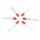 3mm 1000MCD Round Head Red Light Signal Indicator LED Set - Red (100 PCS)