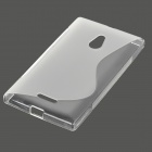 S Pattern Protective TPU Back Case for Nokia XL - Transparent