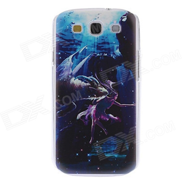 Kinston Capricorn Pattern Plastic Hard Case for Samsung Galaxy S3 I9300 - Blue + Black kinston colorful flowers and butterflies pattern plastic protective case for samsung galaxy s3 i9300