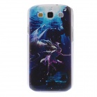 Kinston Capricorn Pattern Plastic Hard Case for Samsung Galaxy S3 I9300 - Blue + Black
