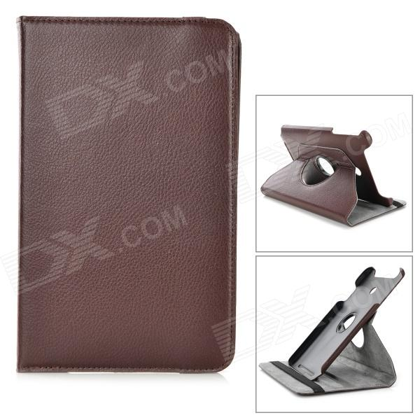 Lychee Grain Style 360 Degree Rotation PU Leather Case for Asus VivoTab Note 8/M80TA - Brown levett caesar prostate massager for 360 degree rotation g spot