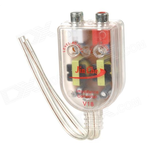 DIY Audio Frequency Converter for Car - Transparent + Silver