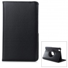 360 Degree Rotary Protective Flip Open PU Case w/ Stand for Samsung Galaxy Tab Pro-T320 - Black