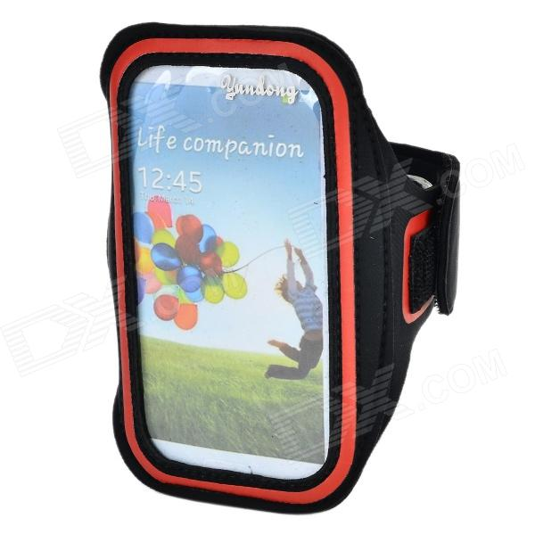 Outdoor Sports Protective Armband w/ Stylus for Samsung Galaxy S5 - Black + Red sunshine sports velcro protective arm bag for samsung galaxy s5 i9600 red black