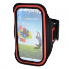 Outdoor Sports Protective Armband w/ Stylus for Samsung Galaxy S5 - Black + Red