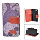 Retro Style Skull Head Pattern Protective Flip Open Case w/ Stand / Card Slots for IPHON 5 / 5S