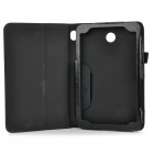 Protetive PU Flip Open Case w/ Hand Strap Holder for 7'' Dell VENUS 3730 - Black