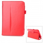 Protetive PU Flip Open Case w/ Hand Strap Holder for 7'' Dell VENUS 3730 - Red