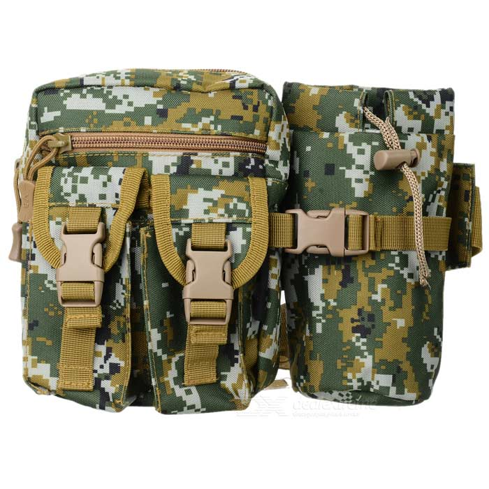 D5 1005 Convenient Outdoor Tactic Nylon Waist Bag - Marpat (20L)
