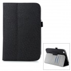 Protective PU Leather Case w/ Hand Strap Holder for Toshiba Encore 8 WT8-AT01A - Black