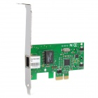 RJ45 PCI-E 10 / 100 / 1000Mbps Gigabit Ethernet Network Card - Green + Black