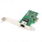 RJ45 PCI-E 10 / 100 / 1000 Mbps Gigabit Ethernet Network Card - vert + noir