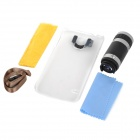 8X Telescope Camera Lens with Back Case for Samsung Galaxy S5 - Black + Silver