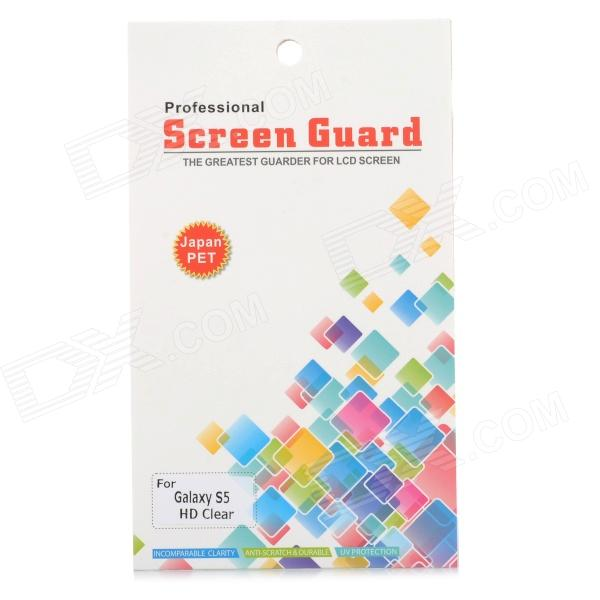Protective Clear Screen Protector Film Guard for Samsung Galaxy S5 - Transparent newtop protective clear screen protector film guard for ipad air transparent