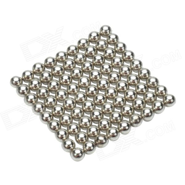 CHEERLINK ZM-81 3mm Neodymium Iron DIY Educational Toys Set - Silver (81 PCS) cheerlink xb 01 3mm diy magnet balls neodymium iron educational toys set silver white 432 pcs