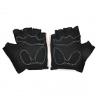 SAHOO 41413 Protective Half-finger Mesh Glove for Cycling - Black Grey (M / Pair)