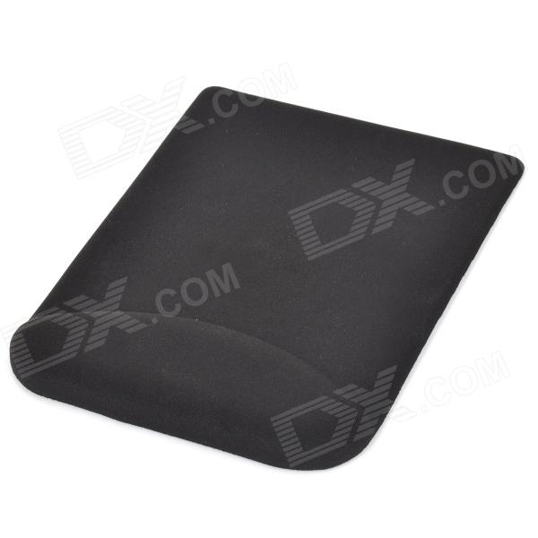 MO-502 Comfortable Silicone Mouse Pad Mat w/ Wrist Rest - Black