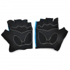 SAHOO 41413 Protective Half-finger Mesh Glove for Cycling - Black + Light Blue (XL / Pair)