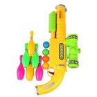 Children Bowling Toy Gun - Yellow + Green
