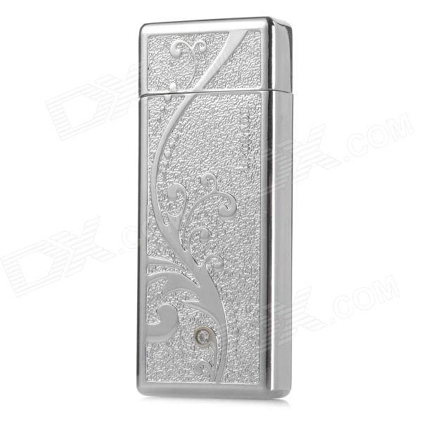 JiaQiang Aluminum Alloy USB Rechargeable Electronic Cigarette Lighter - Silver fly eagle fe808 usb rechargeable electronic cigarette lighter keychain green