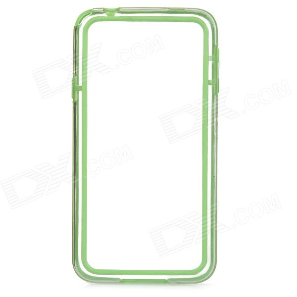 S-What Protetive TPU + PC Bumper Frame for Samsung Galaxy S5 - Green + Transparent protective tpu pc bumper frame for samsung galaxy s5 mini green
