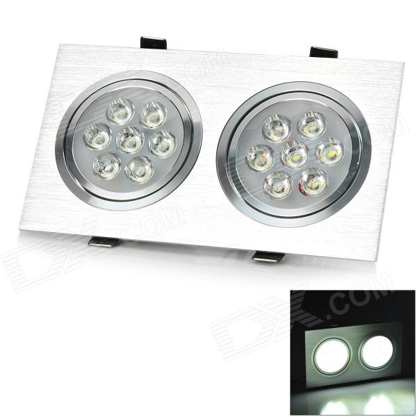 HUGEWIN HSD327 14W 1000LM 6000K White Light Dual Emitter LED Ceiling Lamp - Silver (AC 85~265V)