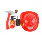 Fireman Cosplay Play House Toys Set - Red + Black