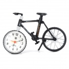 Creative Mini Bicycle Shaped Desktop Clock - Black + White (1 x AA, Not Included)
