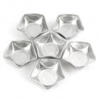 Kök DIY Aluminum Alloy Mini tårta Pudding Modul - Silver (6 PCS)