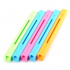 Stylish PP Food Bag Sealing Clips Clamps - Deep Pink + Blue (5 PCS)