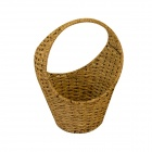 GuoMan Metal Natural Seagrass Weaving Fruit Storage Basket - Brown
