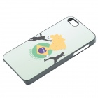 2014 World Cup Brazilian Flag Pattern Aluminum Alloy Case for IPHONE 5 / 5S - Light Green + Black