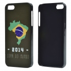 2014 World Cup Brazilian Flag Pattern Aluminum Alloy Case for IPHONE 5 / 5S - Black