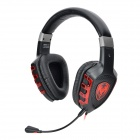 SOMIC G930 3.5mm Jack Headband Headphone w/ Microphone / Remote - Black + Red