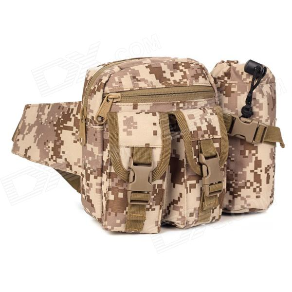 D5 1005 Convenient Outdoor Tactic Nylon Waist Bag - Desert Camouflage (20L)