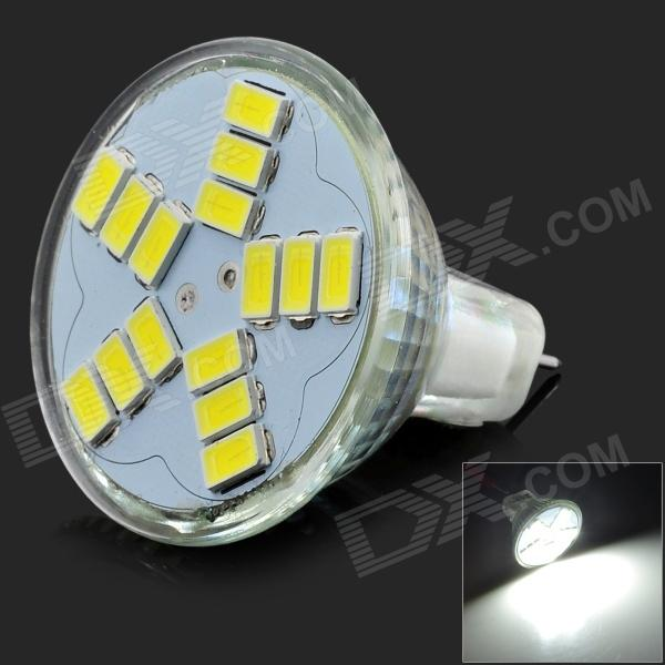 JRLED G4 MR16 4W 12V 300LM 6500K White 15-5630 SMD Spotlight w/ Quartz Lamp Cup - Silver high quality light high power led daytime running lights for bmw e90 lci 3 series sedan 15w 2009 2012 freeshipping