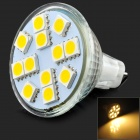 JRLED JRLED-5050-12 MR16 G4 3W 260lm 3300K 12-5050 SMD LED Warm White Light Spotlight (12V)