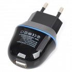 NIOJU AC Power Adapter Charger w/ Micro USB Cable for Samsung S4 / S3 - Black + Blue (EU Plug)