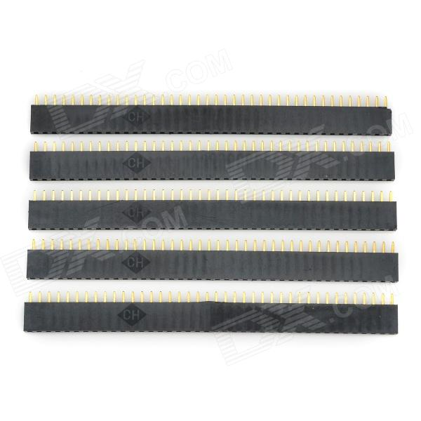 LSON 2,54 mm 1 x 40P Pins - Negro + Oro (5 PCS)