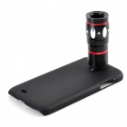 10X Telescope + Fisheye + Macro + Wide Angle Lens Set for Samsung Galaxy S4 / i9500 - Black + Red